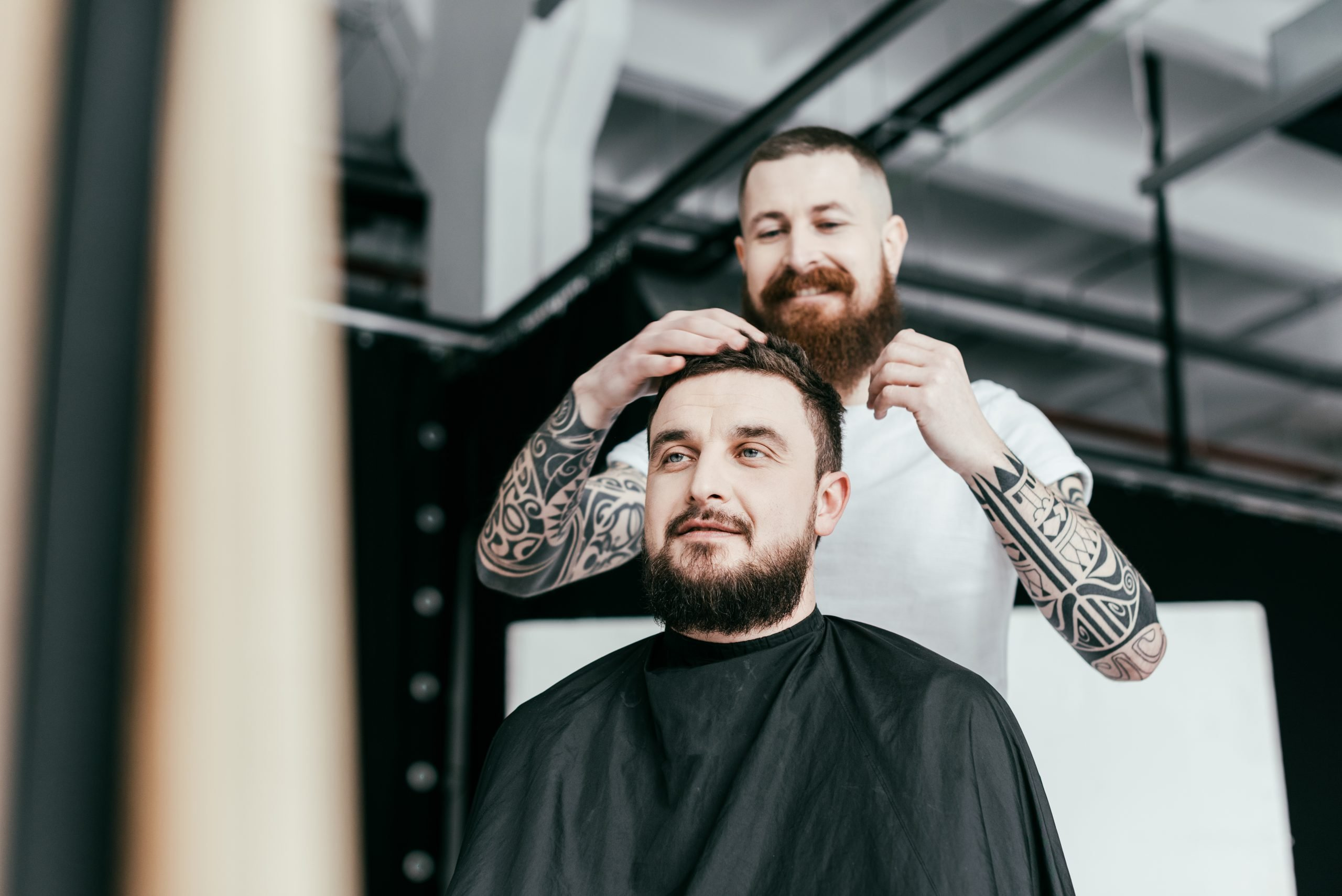 Barber and client are a Marketers customershair
