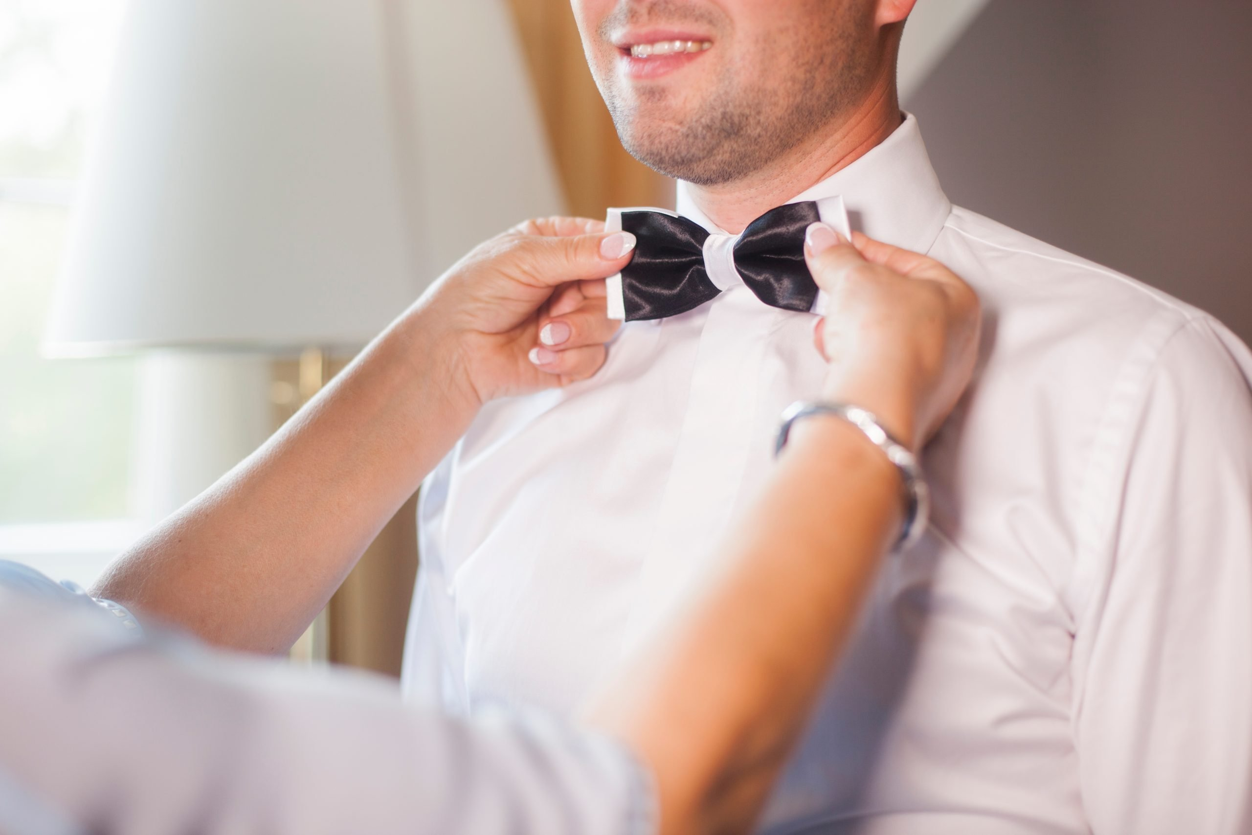 man with perfect bow tie quality assurance